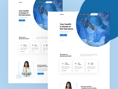 Medical Website Landing Page Concept