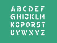 Stencil Typeface