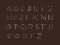Thin stroke typeface