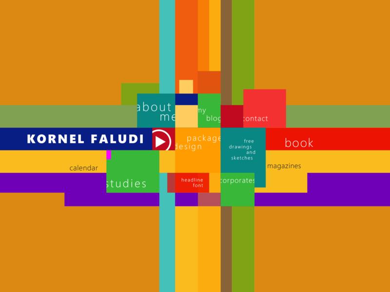 Portfolio home page concept colors vivid elegant minimal flat ux design ui design ux ui web design