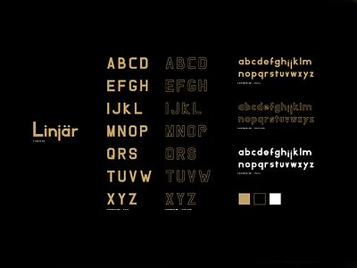Linjar nordic minimal typeface type font