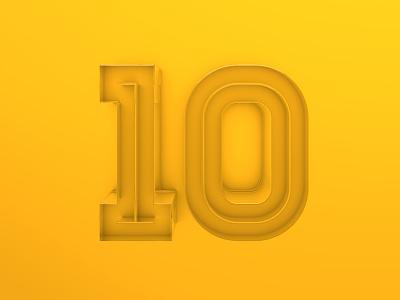 10 transparent yellow 3d plastic 4d cinema 10 ten