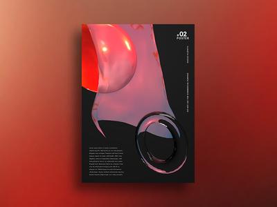 Shape shape poster minimal cinema bubble 4d 3d
