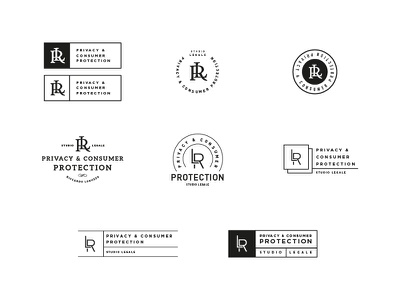 LR Logo white black minimal retro logo