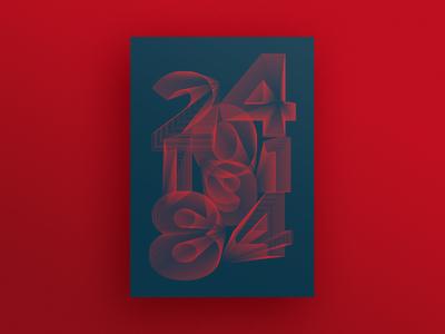 240184 numbers minimalism design graphic poster