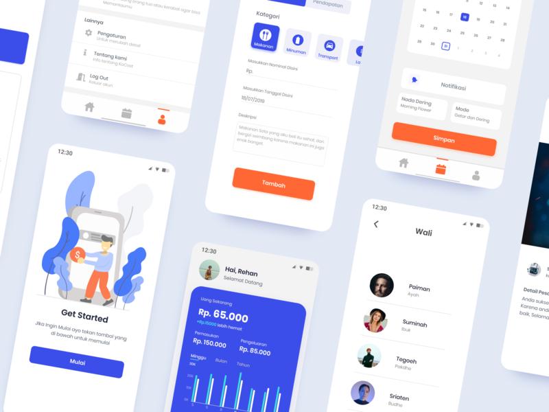 KoCost - Finance App Design clean ui cost ux minimal vector finance app flat illustration ui android mobile uiuxdesign design app