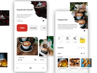 Cafe menu ordering app