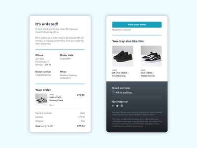 Day 17: Email Receipt