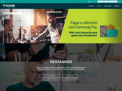Site SICOOB Coopjustiça banco sites
