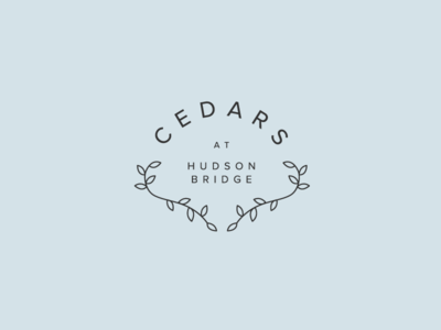 Cedars at Hudson Bridge typography vector adobe illustrator illustration pastel logo design brand identity logo