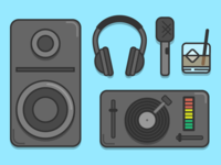 Wedding DJ Flat Icons