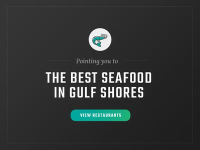 Seafood Call to Action style button cta web logo illustration color brand identity adobe typography branding illustrator icon seafood shrimp design ux ui