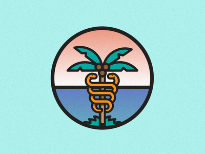 Can you name the symbol? brand vector texture medical app medial logo illustrator illustration identity icon gradient flat design color branding design branding brand identity adobe