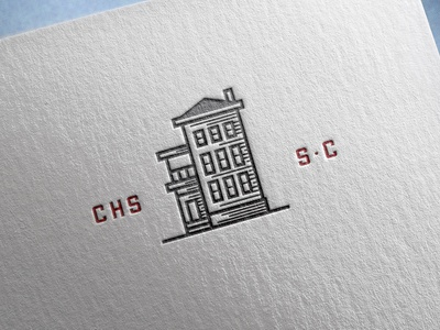 Charleston Single Icon vector branding illustrator design adobe illustration linecut house charleston icon letterpress