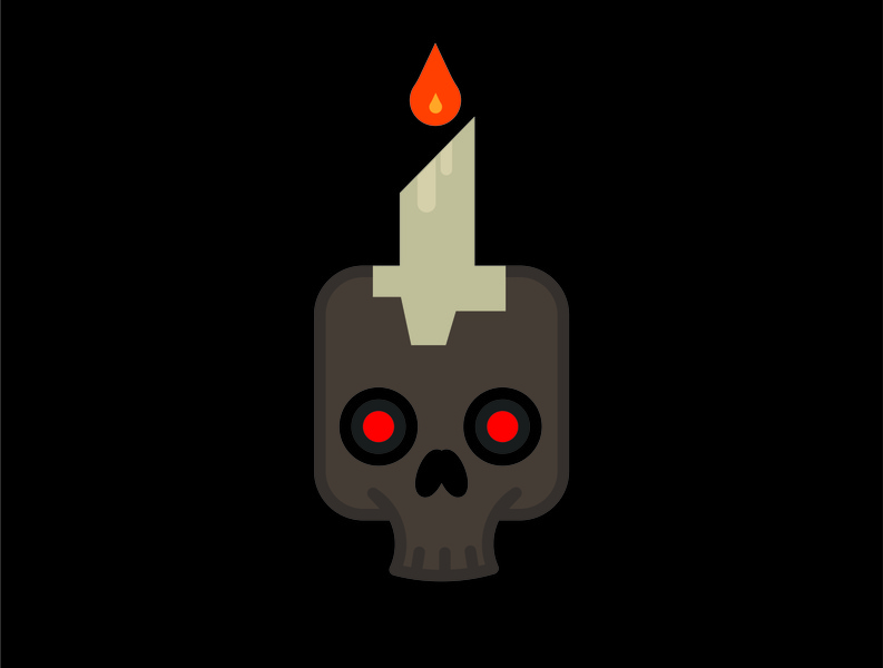 Skull Candle skull halloween icon vector illustration brand identity adobe branding design illustrator