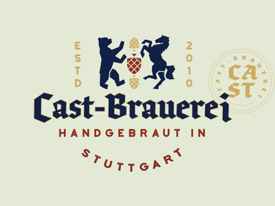 German Brewery Logo Refresh icon typography vector color brand identity design logo design adobe illustrator bavarian brewery beer german branding logo