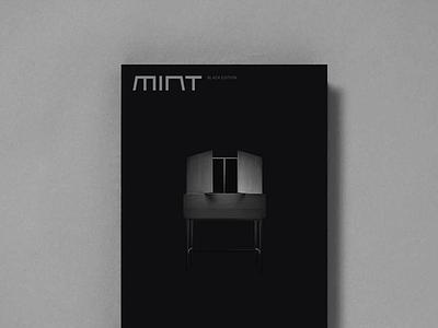 Mint furniture Black Edition print branding