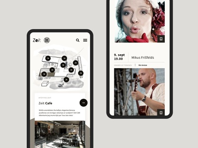 Zeit hotel homepage ux ui design illustration web design website