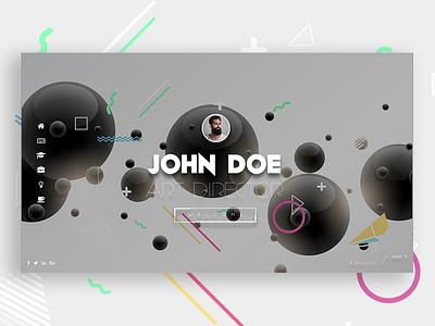 Slides | Personal Portfolio Theme frontend ux ui memphis template theme cv portfolio