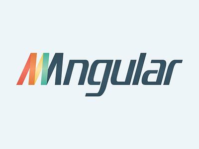 Angular | LogoType angular exercise graphic design logo