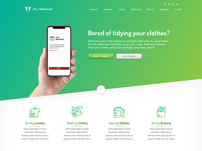 Hey Steward App template graphic design exercise ux ui