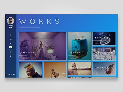 Works Portfolio Layout design works portfolio graphic design exercise ux ui