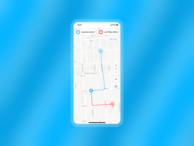 Daily UI #020 map 020 day 20 location tracker mobile app app design interface daily 100 challenge minimal ux interaction ui dailyuichallenge daily ui
