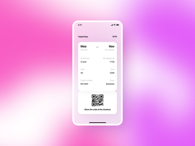 Daily UI #024 024 day 24 boarding pass mobile app app design daily 100 challenge dailyuichallenge daily ui