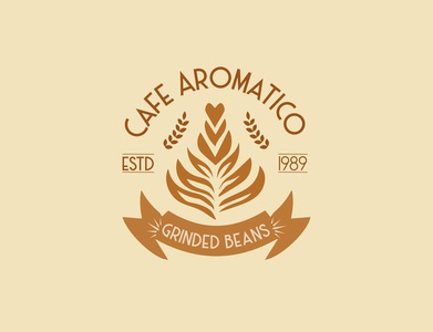 Cafe Aromatico graphic design packaging logo making stationary design coffee shop vintage logo branding design brand identity minimal logo design company logo branding business adobe photoshop cc adobe illustrator