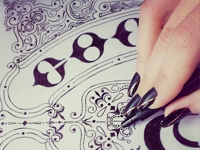 Hand Lettering lettering decorative logo sketch calligraphy typography brush branding glamour logotype identity