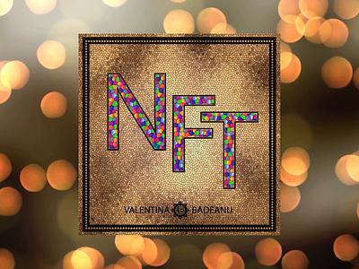 NFT Projects gold lettering creative designer nftdesign illustration design token nftart digital cryptoart art crypto nft