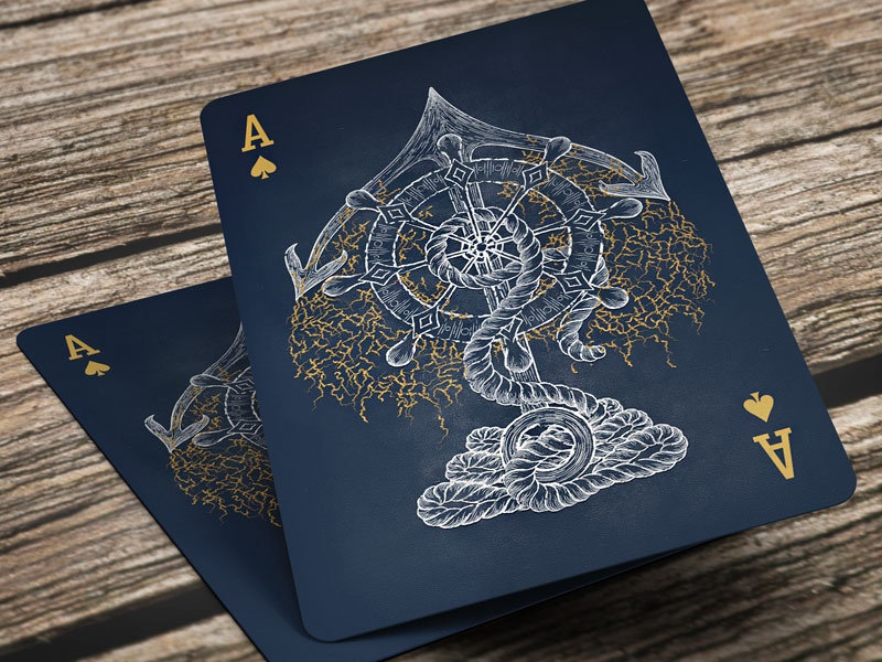 Ace Of Spades ace of spades cards playing cards ace marine nautical blue white gold