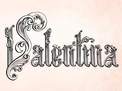 Lettering Sketch sketch decorative baroque logo type typography lettering