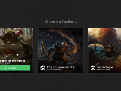 Choose a faction icons flat nations dark choose ui faction picker games explorations