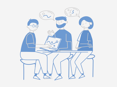 Team illustration template working process team work team branding illustration art vector figma design