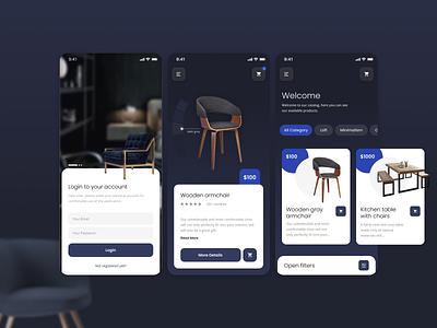 Furniture store app design furniture store furniture app shop app figma vector web  design ux branding ui design