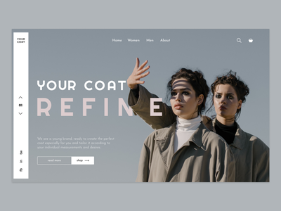 Coat store landing page landing ux logo vector shop coat branding web  design ui figma design