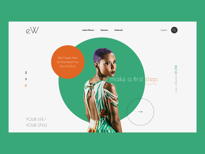 Website advertising a new collection of clothes clothes ux logo branding web  design ui figma design