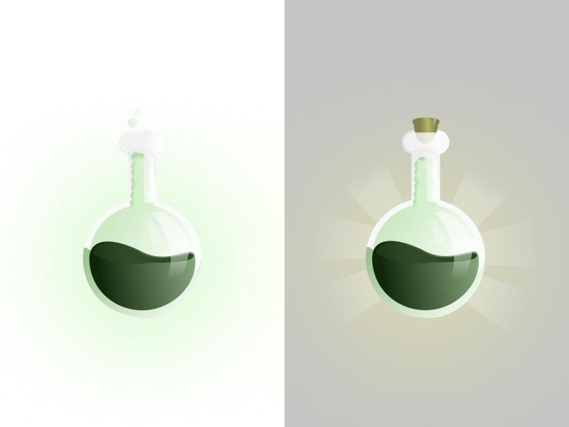 Jar of potion light game illustration alchemist jar game vector photoshop figma art illustration