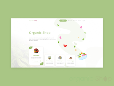 Web design for Organic Shop
