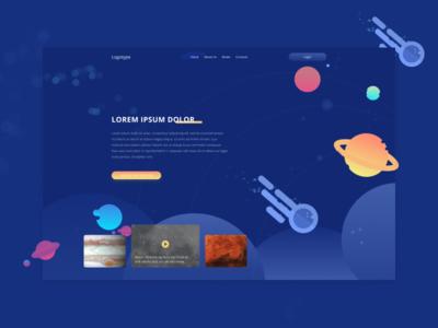 Website design for an educational space project books space illustration ui art web  design photoshop vector design figma