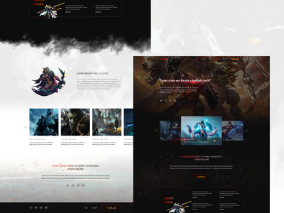 Homepage design for a Game portal game ui web  design vector photoshop design figma