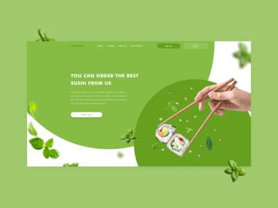 Sushi shop - web design