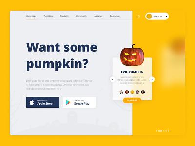 Halloween website design halloween design halloween pumpkin shop ui web  design photoshop figma design
