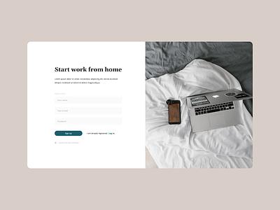 Registration page freelance homework registration page registration ui web  design vector figma design