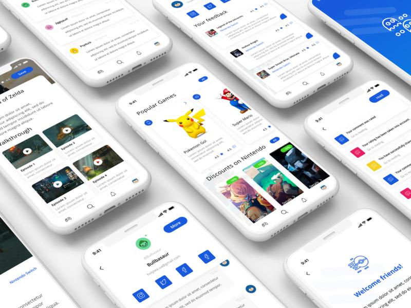 Gaming News Mobile Application ux app design app game vector ui web  design photoshop figma design