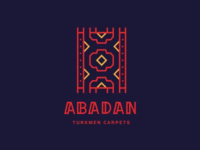Abadan haly carpet branding type logo