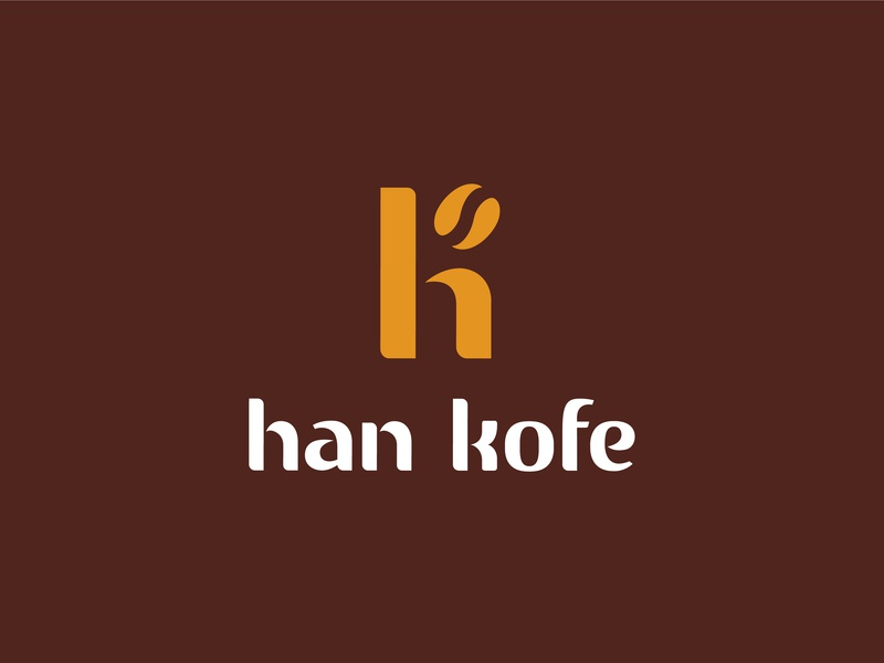 Han Kofe café coffee bean cafe logo logo type coffee