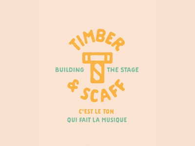 Timber & Scaff ts logotype logomark stagebuilding branding amsterdam logo