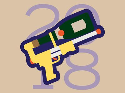 2018 champagne watergun year new 2018